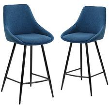 67cm Nappa High Back Barstools (Set of 2)