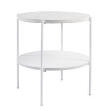 White Vanessa Terrazzo Side Table