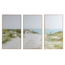 Secret Path Framed Canvas Wall Art Triptych