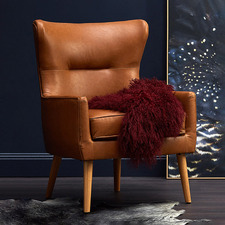 Jacob Faux Leather Wingback Armchair