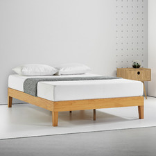 Natural Beckham Premium Wooden Bed Base