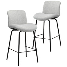 65cm Light Grey Citta Counter Stools (Set of 2)