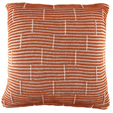 Rust Acre Knitted Cotton Cushion