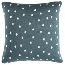 Blue Frankie Knitted Cotton Reversible Cushion