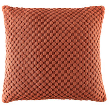 Rust Leo Quilted Cotton Cushion