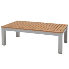 Natural Maui Rectangular Wooden Outdoor Coffee Table