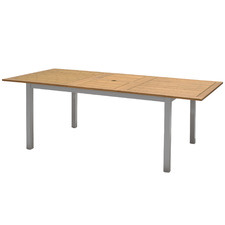 Natural Maui Eucalyptus Wood Outdoor Extendable Dining Table