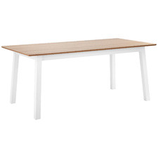 180cm White & Natural Hamptons Dining Table
