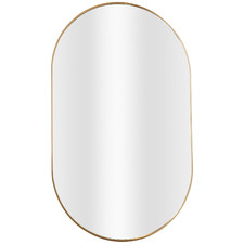 Tate Oval Metal Framed Wall Mirror