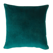 Teal Minnie Velvet Cotton Cushion
