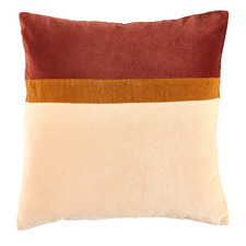 Rust Nell Patch Velvet Cotton Cushion