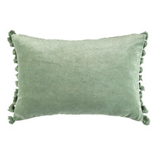 Sage Minnie Tasselled Velvet Cushion