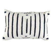 Hampton Embroidered Cotton Cushion