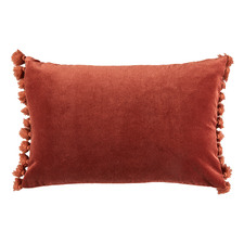 Rust Minnie Tasselled Velvet Cushion