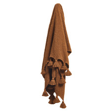 Cinnamon Wattle Knitted Cotton Throw