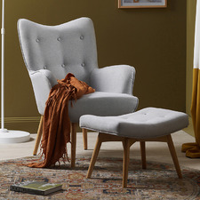 Buckland Armchair with Footstool
