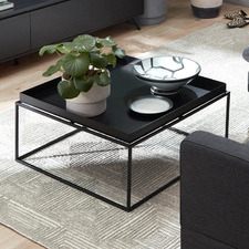Como Tray Top Steel Coffee Table