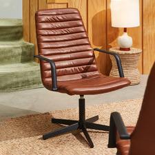 Tan Boston Faux Leather Armchair