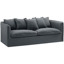 Charcoal Montauk 3 Seater Slipcover Sofa