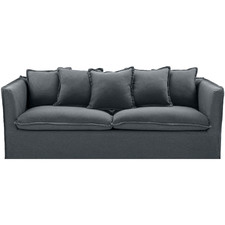 Charcoal Montauk 3 Seater Slipcover Sofa