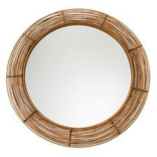 Tulum Round Rattan Mirror