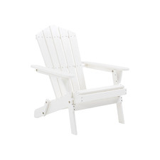 White Cape Cod Acacia Wood Adirondack Chair