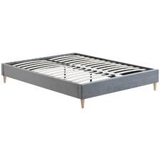 Grey Velvet Charlotte Bed Base