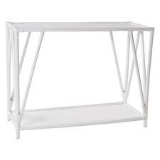 White Umiko Rattan Console Table