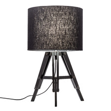 Black & Whitewash Benson Wooden Tripod Table Lamp