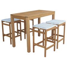 Verona Wooden Outdoor Bar Table Set