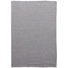 Grey Dawson Hand-Woven Cotton-Blend Rug