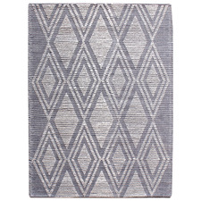 Grey Sol Hand-Woven Wool-Blend Rug