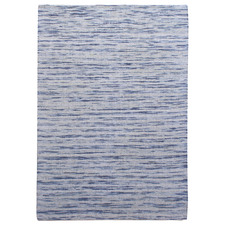 Blue Foster Hand-Woven Wool-Blend Rug