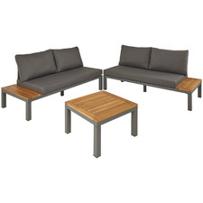 4 Seater Guave Aluminium & Wood Outdoor Sectional Lounge Set