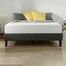 Grey Essentials Upholstered Platform Bed