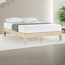 White Wash Beckham Pine Wood Bed Base