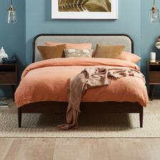 Walnut Olsen European Beech Wood Queen Bed