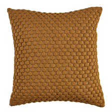 Bronze Leo Quilted Cotton Cushion