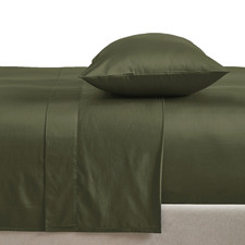 Olive Organic Cotton Sheet Set