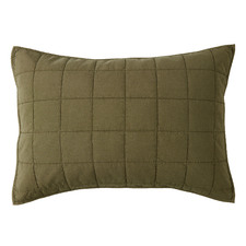 Olive Washed Cotton Pillowcases (Set of 2)