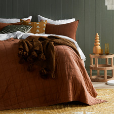 Clay Washed Cotton Coverlet Set