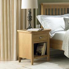 Holmes Oak 1 Drawer Bedside Table