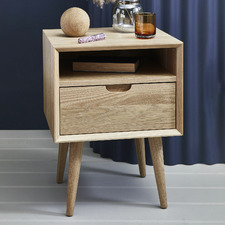Natural Olsen 1 Drawer Bedside Table