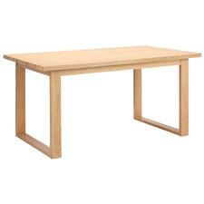 Oak Ski-Leg Dining Table