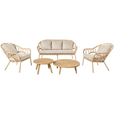 4 Seater Elba Outdoor Lounge & Coffee Table Set