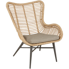 Rovello PE Rattan & Aluminium Outdoor Occasional Chair