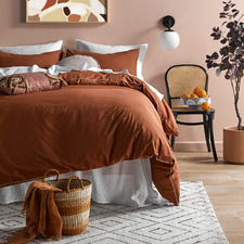Cinnamon Organic Cotton Quilt Cover Set