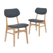 Soho Ash Wood Dining Chairs (Set of 2)