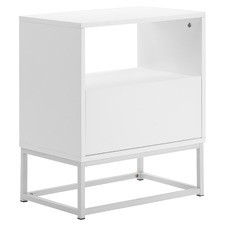 White Sofi Bedside Table