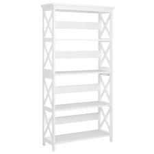 White 4 Tier Noosa Bookshelf